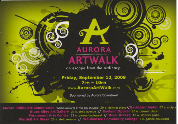 Aurora Art Walk Exhibition Invite